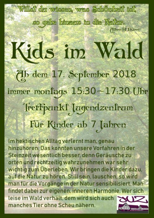 Kids im Wald 2018